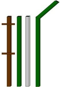 изготовление металлические столбы в Таштаголе