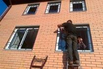 Монтаж решеток в Таштаголе