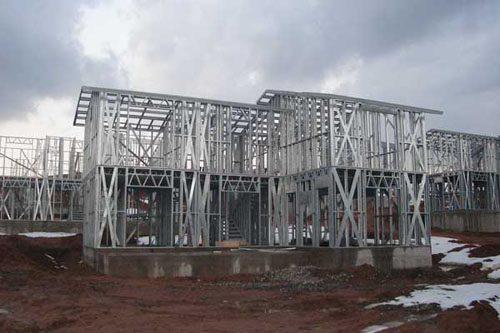Здания на основе облегчённого металлического каркаса в Таштаголе